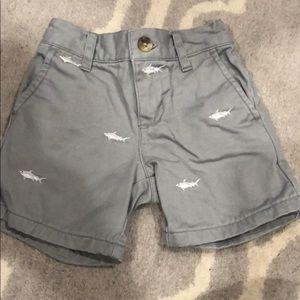 Janie and Jack shark print baby boys shorts